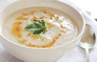 سوپ جو دو سر پرک با کفیر