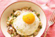 صبحانه تخم مرغ با بلغور جو دوسر