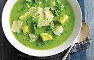سوپ جو دو سر پرک با نعناع و گشنیز