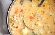 سوپ کینوا و گل کلم