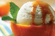 ژله بستنی در پوست پرتقال