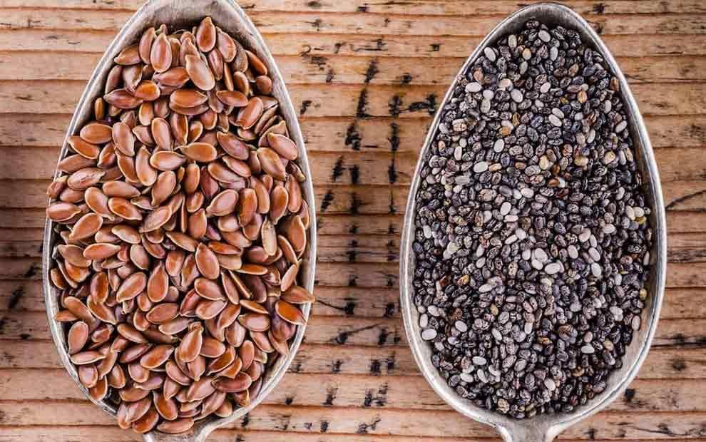 دانه چیا در مقابل دانه کتان