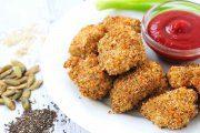 ناگت مرغ با دانه چیا، یک غذای رژیمی