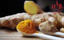 زنجبیل و زردچوبه ارگانیک 100% خالص و طبیعی OAB