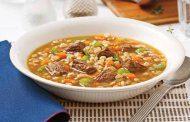 سوپ جو دو سر پرک با ماهیچه گوسفند