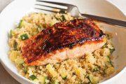 ماهی سالمون با کینوا
