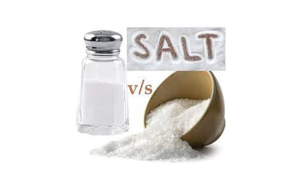 مقایسه سدیم نمک دریایی با نمک معمولی