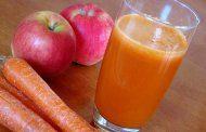 تمیزی دندانها با هویج و سیب