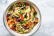 نودل سبزیجات و پنیر