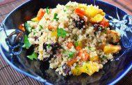 سالاد کینوا با سبزیجات